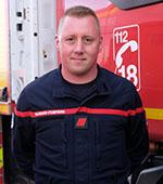 Portrait Mickael Castet, pompier volontaire