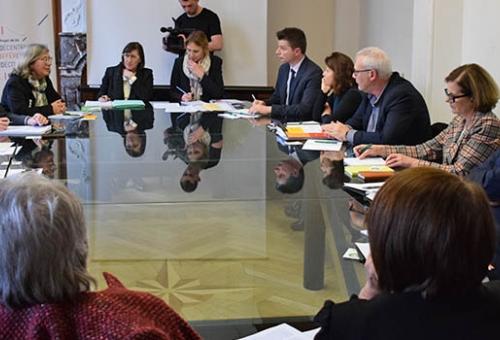 La ministre Jacqueline Gourault au conseil départemental