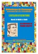 Atelier d\'écriture avec Pierre Soletti