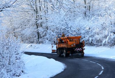 Routes départementales en hiver