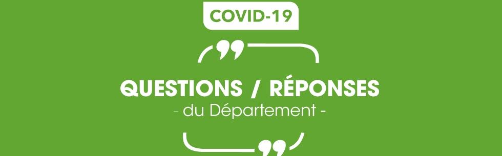 Coronavirus : le Département répond à vos questions