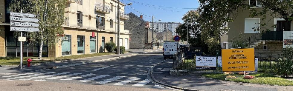 Châlons-en-Champagne : travaux sur l\'avenue des Alliés
