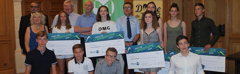 Prix de la sportivité : 10 collégiens récompensés