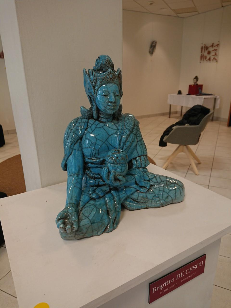 Sculpture Bouddha.